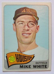 MIKE WHITE HOUSTON COLTS 1965 (ussiwojima) Tags: topps 1965 baseballcard mikewhite houstoncolts