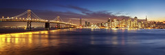 San Francisco Christmas Lights from Yerba Buena Island (photofanman) Tags: sanfrancisco california christmas ca longexposure holiday night canon island lights twilight treasureisland bluehour yerbabuena 5dii