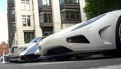 Noses (BenGPhotos) Tags: blue red white black london car r supercar v8 bentley spotting astonmartin cinque zonda koenigsegg combo roadster v12 pagani carbonfibre rapide 2011 mulsanne hypercar agera
