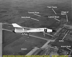 Avro Arrow RL-201 over Malton w labels (Sudbury2Malton) Tags: malton avro avroarrow