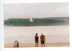 Pipe #4. (myamericana.us) Tags: slr film beach clouds analog 35mm canon hawaii nw surf tube pipe barrel shoreline surfing f1 northshore gnarly surfers crown vans fl masters billabong 35 swell triple pipeline whitewash 135mm ehukaibeachpark 2011