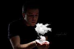 I caught a cloud (erkua) Tags: auto portrait cloud home umbrella self canon silver studio 50mm retrato flash estudio una caught paraguas nube plateado casero speedlite snoot i strobist 60d yn460 yn560 atrapé