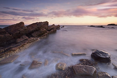 The simple things... (Stuart Stevenson) Tags: uk longexposure light sunset sea rock clouds photography scotland intense rocks scottish wideangle calm northsea colourful clydevalley canon1740 slowwater eastneuk eastfife thanksforviewing transientlight canon5dmkii stuartstevenson ©stuartstevenson