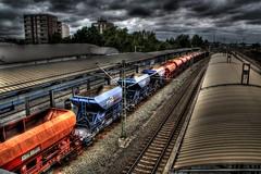 HDR - Railway station Laatzen (Michis Bilder) Tags: station train railway bahnhof hdr freight güterzug laatzen expobahnhof