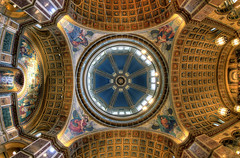 St. Matthew's Dome (BrianMoranHDR) Tags: art church washingtondc catholic artistic interior ceiling fisheye dome hdr stmatthewscathedral hdrsoft topazlabs niksoftware canon5dmarkii viveza2 adobephotoshopcs5extended denoise5 silverefexpro2 colorefexpro4 canon815mmlfisheye photomatixpro414