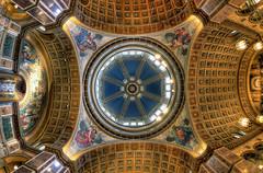 St. Matthew's Dome (BrianMoranHDR) Tags: art church washingtondc catholic artistic interior ceiling fisheye dome hdr stmatthewscathedral hdrsoft topazlabs niksoftware canon5dmarkii viveza2 adobephotoshopcs5extended denoise5 silverefexpro2 colorefexpro4 canon815mmlfisheye photomatixpro414