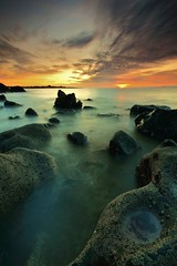 Rock Pool Sunrise (been snapping) Tags: ocean uk winter naturaleza seascape color beach nature water clouds sunrise canon coast scotland seaside december fife sigma coastal 7d nd elie schotland ecosse eastneuk fifecoastalwalk escosia doubleniceshot tripleniceshot mygearandme mygearandmepremium