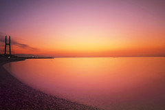 the warm sea (y2-hiro) Tags: light sunset sea sky reflection colors nikon le d3s