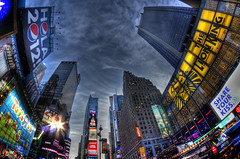 New Year Eve's Eve in Times Square, NYC (gimmeocean) Tags: nyc newyorkcity ny newyork broadway timessquare newyearseve hdr balldrop handheldhdr bower8mmfisheye