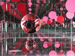r x r (Michiko.Fujii) Tags: pink red reflections tate infinity mirrors lookingglass yayoikusama tateliverpool intothelookingglass alternativeportraits thepassingwinter