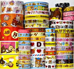 Rilakkuma Deco Tapes (applel0ve) Tags: bear bird sticker small decoration large collection tape kawaii medium rare kuma rilakkuma sanx korilakkuma kiiroitori decotapes
