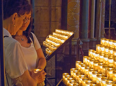 Candles at Cathedrale Notre-Dame. (legalwheel) Tags: vacation paris france church canon candles notredame prayers latinquarter g11 solemn cathdralenotredame lesiles