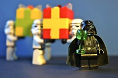 It's my birthday and I feel so lonely... (ToxicGina) Tags: starwars lego darth stormtrooper vader