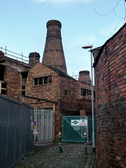 The workers didn't have far to go to work! (stokeyouth1) Tags: winter 2 urban brick architecture bottle construction industrial oven urbandecay grade panasonic alleyway stokeontrent kiln cobbles past staffordshire listed potteries longton shortstreet dmctz5 neckend ensonworks