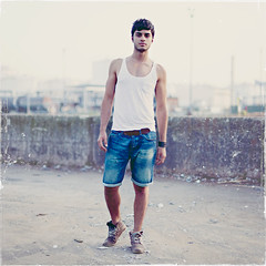 mer D. (Lukas Sowada) Tags: boy portrait man male guy 6x6 face square photography tank top lukassowada