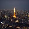 Tokyo Tower (Alberto Sen (www.albertosen.es)) Tags: red tower japan skyline night lights tokyo noche nikon alberto tokyotower japon sen moritower tokio rascacielos d300s albertorg albertosen tommermori