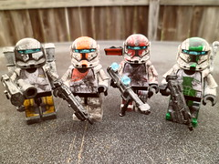 Delta Squad (Grant Me Your Bacon!) Tags: boss starwars republic lego delta sev custom commando scorch fixer deltasquad