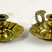 108. Pair of Miniature Antique Chambersticks