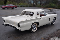 "1957 Ford Thunderbird E Code Dual Quad 312 • <a style=""font-size:0.8em;"" href=""http://www.flickr.com/photos/85572005@N00/6703764861/"" target=""_blank"">View on Flickr</a>"