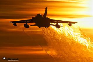 Panavia Tornado GR4 RAF Marham sunset