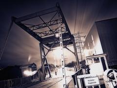 Holzhafen Klappbrcke (redstarpictures) Tags: bridge abandoned port germany harbor nightshot harbour hamburg hafen nachtaufnahme harburg holzhafen norddeutschland bascule bruecke hamburgharburg holzhafenklappbruecke