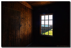 Looking out from the Chapel Window (nxtrFOTO) Tags: california statepark travel usa window northerncalifornia wall vintage photography nikon bell chapel handheld sonomacounty nikkor imperialism hdr jenner patina latespring ca1 fortross 2011 nationalhistoriclandmark early19thcentury photomatix shorelinehighway tonemapped d700 russiansettlement afs2470mm nxtrfoto nextierphotography southernblockhouse