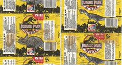 1993 Tip-Top Jurassic Park Ice Cream Wrappers - New Zealand (NZCollector) Tags: park new streets ice vintage promo cream paddle zealand packaging walls collectables promotional jurassic collectibles popsicle collectable tiptop kiwiana