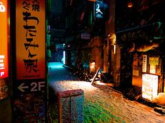 Tokyo Snow (OzGFK) Tags: city winter snow cold japan bar night canon restaurant tokyo powershot snowing s100