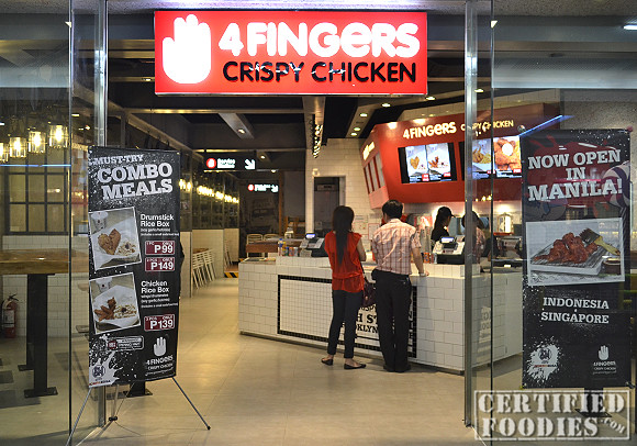 4 Fingers Crispy Chicken store in SM North Edsa