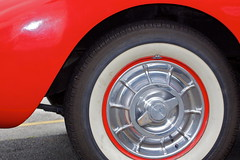 Vintage detail (Deb Jones1) Tags: red cars canon vintage transport corvette vechile flickrduel debjones1