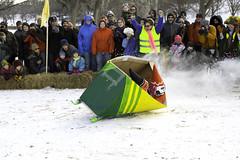 Crayons (Bolobilly) Tags: park city winter people snow minnesota minneapolis mpls familyfun twincities sled mn powderhorn powderhornpark artsled artsledrally powderhornartsledrally