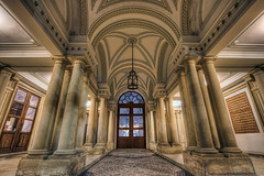 Entrance (Miroslav Petrasko (blog.hdrshooter.net)) Tags: door old canon eos tripod pillar entrance sigma palace slovensko slovakia dslr 1020mm pillars primate bratislava hdr palac primates musem photomatix vchod primacialny 450d theodevil oloneo hdrshooter