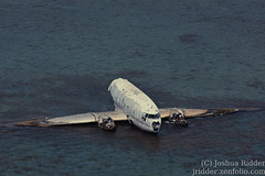 In the water (Joshr03) Tags: airplane crashed aerial bahamas dc3 andros 2012 ef70300mmf456isusm canoneos40d