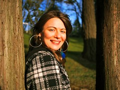 South Park portrait (Vorona Photography) Tags: park portrait green nature girl face sunshine hoop hair outdoors photo washington nice pretty natural state image coat south picture highlights jacket photograph portraiture tacoma earrings plaid