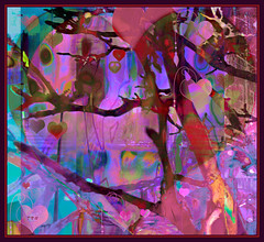 The Mystic Heart Tree From the Garden of the King (Tim Noonan) Tags: tree art digital photoshop garden hearts tim colours drawing branches magic silk vivid manipulation valentine imagination mystical allegory hypothetical digi vividimagination artdigital shockofthenew sotn newreality sharingart maxfudge awardtree maxfudgeexcellence maxfudgeawardandexcellencegroup trolledproud magiktroll exoticimage digitalartscene netartii donnasmagicalpix digitalartscenepro