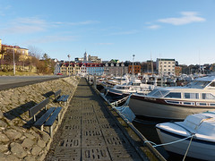 P1000859 FZ150 (Jkup) Tags: blue water sunshine marina boats harbor cityscape panasonic faroeislands trshavn fz150