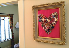 jeweled heart valentines decor
