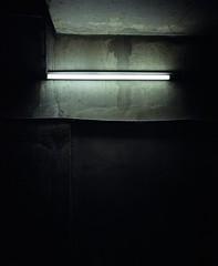 Untitled-neon (Philippe Yong) Tags: paris 120 film analog mediumformat neon kodak parking analogue 6x7 80mm portra400 mamiya7ii moyenformat philippeyong wwwpyphotographyfr