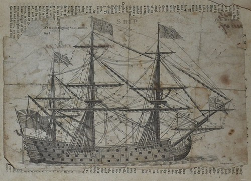 Ships Rigging - Encyclopedia Britannica 1771 1st Edition