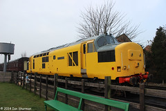 37198 Chief Engineer 30th March 2014 GCR Diesel Gala (Ian Sharman 1963) Tags: tractor station train march diesel chief leicester great north central engine railway loco class passenger 30th 37 gala woodhouse engineer loughborough quorn 2014 rothley gcr 37198