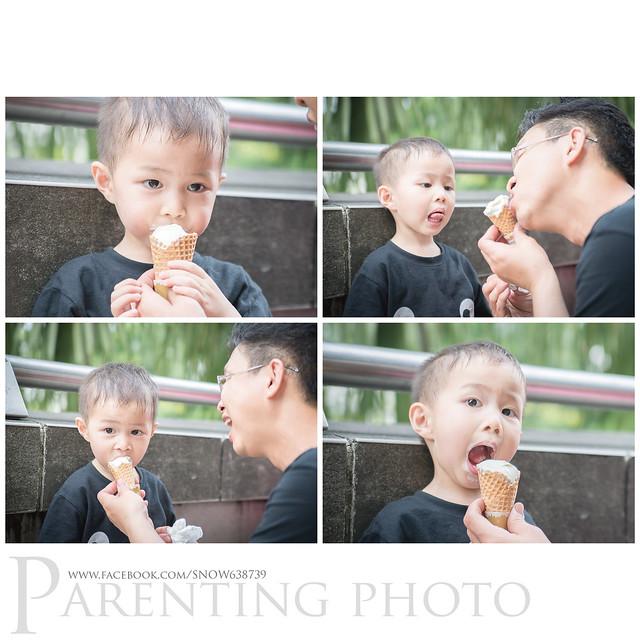 那天的天氣實在太熱了.... 吃個冰淇淋消暑
