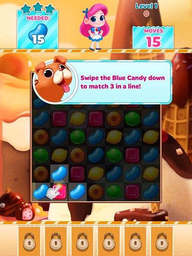 Candy Blast Mania Tutorial: screenshots, UI