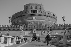 Castel Sant'Angelo (Maurizio Imbriale) Tags: portrait bw italy rome monochrome blackwhite flickr moments faces explore creativecommons decisivemoment nikond3200 candidpeople portraitstreet flickriver scenephotography collectingsouls worldstreetphotography maurizioimbriale