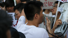 5-15-2016_Demonstration_MPA_15 (macauphotoagency) Tags: china new money streets outdoors university chief police government block macau demonstrations executive sai donations association chui macao on may15 protestants policeforce 5152016 newmacauassociation insatisfation
