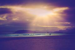 Our sea... (cristina.g216) Tags: sunset sea beach backlight atardecer mar sand playa arena flare