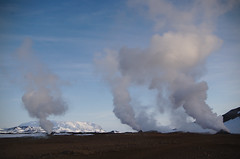 Fumaroles (JimLeach89) Tags: travel holiday snow nature digital rural landscape outside outdoors countryside iceland nikon scenery exterior view natural dslr d40 nikond40 d40x d40d40x