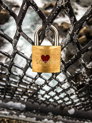 Lock your Love.... (Mohmed Althani) Tags: travel vacation sky cold color love water rock catchycolors is iceland exposure outdoor lock south doha qatar iphone6s