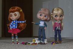 "BaD May 18 - ""We can work it out"" (Dolly Adventures in the Galland Household) Tags: cute childhood toys dolls sassy indoor blythe custom collectibles dollhouse dollphotography dollartistry"