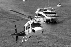 CFR1133-bn  AS-355F-2 EC-JYJ (Carlos F1) Tags: nikon d300 lepb helipuerto heliport transporte transport aviación aviation helicoptero helicopter spotter spotting ecjyj aerospatiale as355f2 ecureuil cathelicopters black white blanco negro bw bn monocromático barcelona spain boat barco golondrinas mar sea mediterraneo rotorcraft