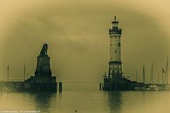 Lindau (Baviera) (raperol) Tags: germany puerto lluvia 300d nubes alemania 2007 baviera airelibre lagoconstanza